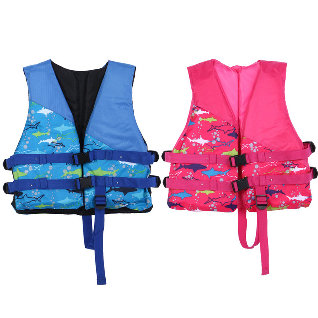 Inflatable Life Vest Child Sandbeach Drifting Swimmer Water Safety Jackets Life Saving Gilet for 5-10 Years Kids EA14