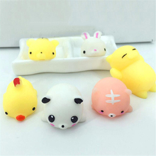Mini Squishy Toys Cute Cat Animal Antistress Ball Squeeze Mochi Rising Abreact Soft Sticky Stress Relief Funny Gift Toy Kawaii
