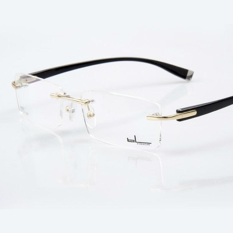 Männer Optische Mann Gläser Vision Der Breites Anblick gold Männliche Grau Randlose Brillen Rahmen Vazrobe Rezept silber Für Gesicht Brille RqwEB6X