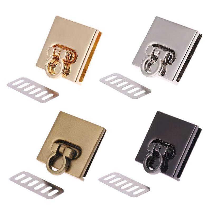 New 1 Pc Metal Twist Lock Bag Case Clasp For Handbags Crossbody Shoulder Bag Purse Accessories DIY Craft Replacement 4 Colors