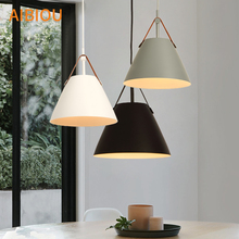AIBIOU New Arrival LED Pendant Lights With Metal Lampshade For Dining E27 Light Indoor Kitchen Lighting Fixture