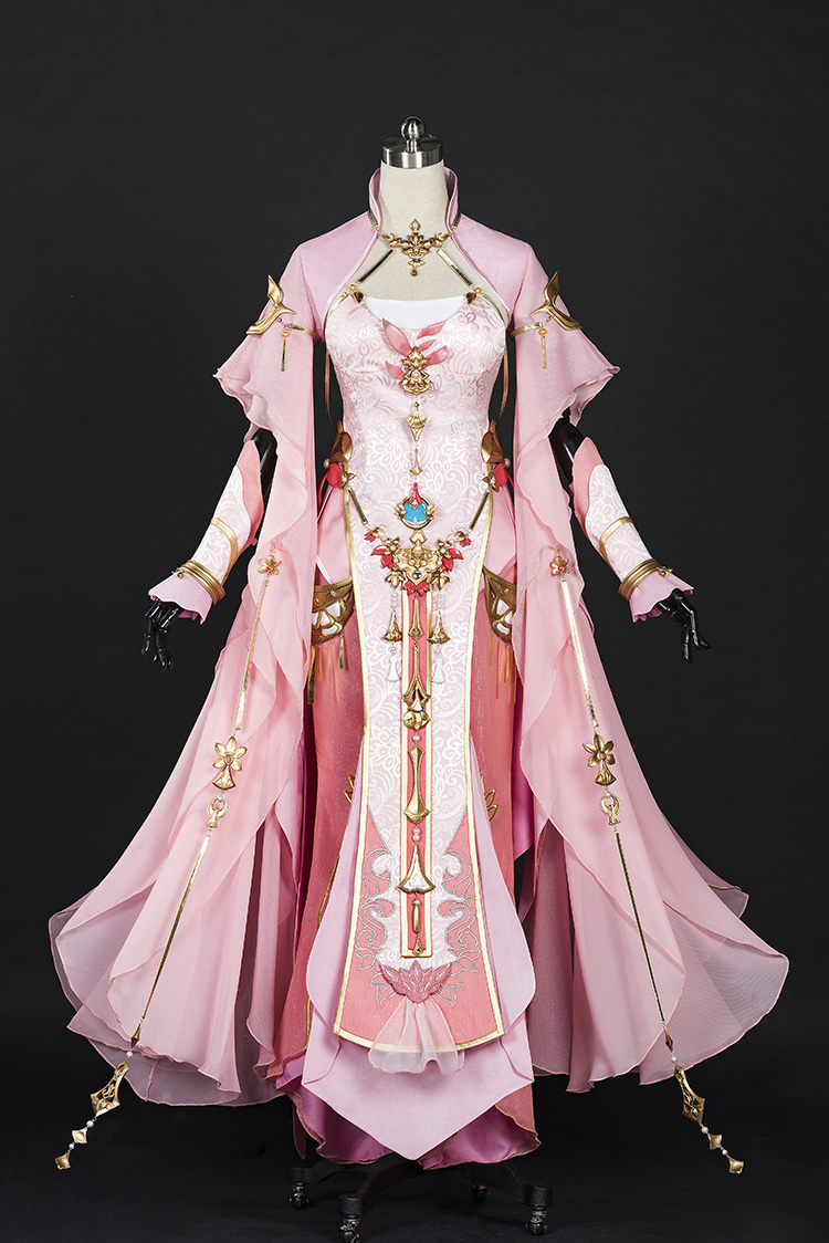 Pink Woman Xue He Ba Dao Jian Wang III Adult Female Qi Xiu Group Anime Cosplay Costume Hanfu Female Full Set DHL free shipping-in Game Costumes from Novelty & Special Use on Aliexpress.com | Alibaba Group