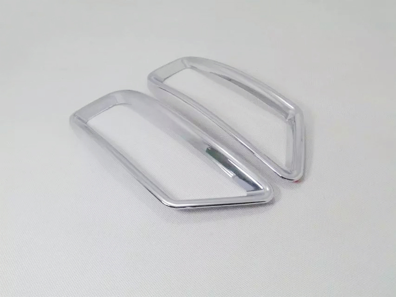 09 15 Accessories abs Plastic Rear fog light lamp cover Trim 2pcs for Peugeot 3008 2009 2010 2011 2012 2013 2014 2015 in Interior Mouldings from Automobiles Motorcycles