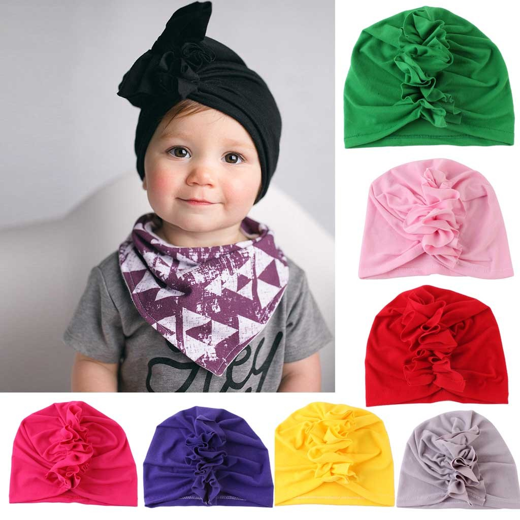 Baby Kids Cute Headband For Girl Cotton Fashion Indian Hat Headband Newborn Kids Turban Hair Band Accessoire Birthday Gift K0322