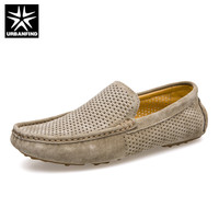 URBANFIND Breathable Men Casual Shoes Suede Leather Loafers Size 38 44 Comfortable Slip On Male Moccasins