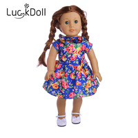 Luckdoll new doll dress fit 18 inch American doll is the best doll accessories gift for children