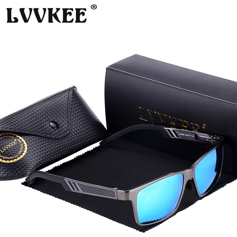 LVVKEE 2019 Pánské hliníkové magnéziové řidičské brýle Mužský kovový rám Polarizované sluneční brýle Oculos De Sol Masculino