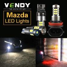 2x T10 W5W 194 T15 W16W 921 7440 W21W 7443 W21/5W H8 H11 9006 Canbus LED Lights For Mazda 2 3 axela 5 6 CX5 CX-5 CX3 323 MX5 RX8 guang dian 4x led canbus for ma z da 2 3 6 323 5 626 axela cx 5 mx5 demio cx 7 rx8 t10 w5w 2835 chip clearance lights width lamp