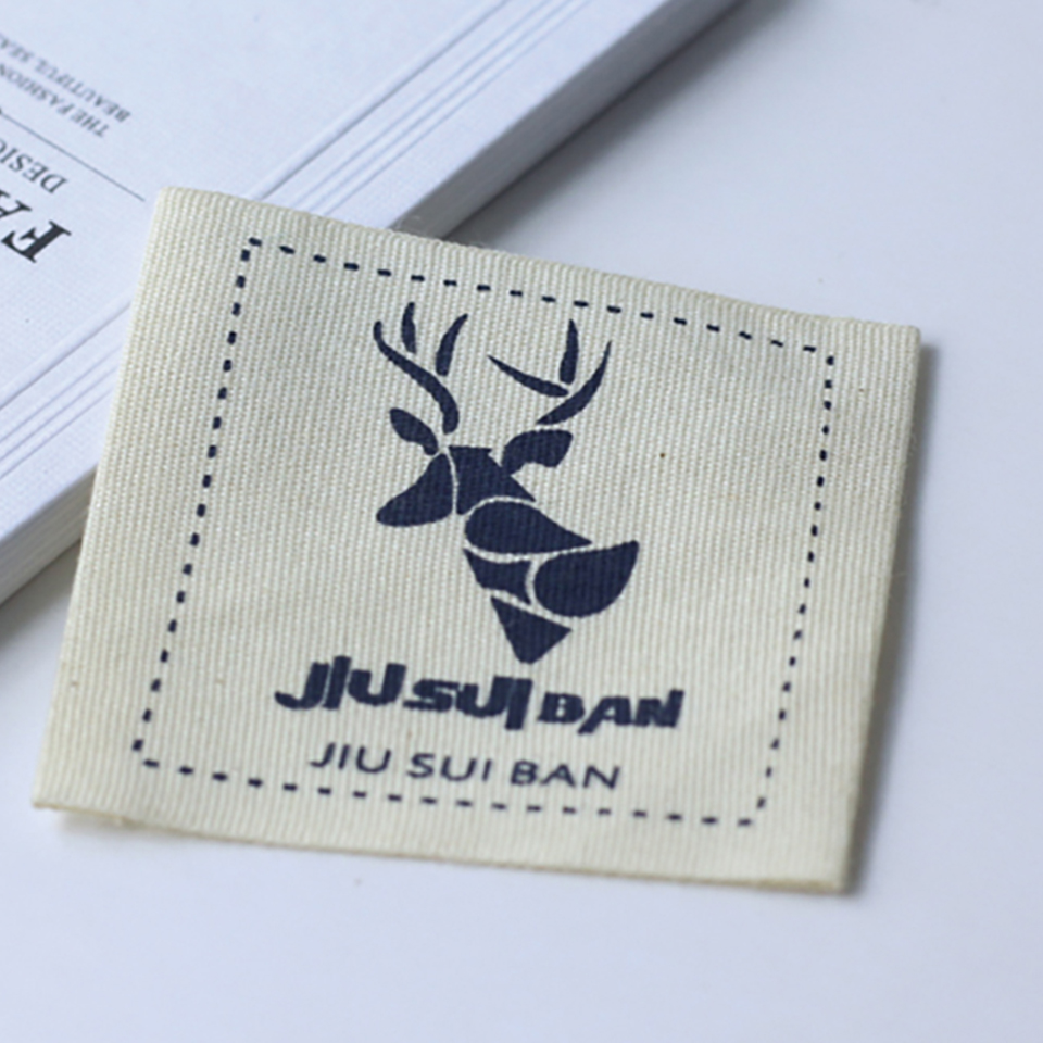 medium resolution of free shipping custom logo cotton material print labels shop name brand baby soft clothing garment labels underware main labels