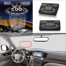Car HUD Head Up Display For Nissan Quest / Rogue Sentra 2015 2016Refkecting Windshield Screen Saft Driving Projector
