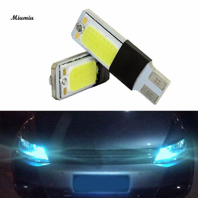 miumiu auto koplampen 1 paar ijsblauw licht kleur t10 led w5w cob interieur lamp licht parking
