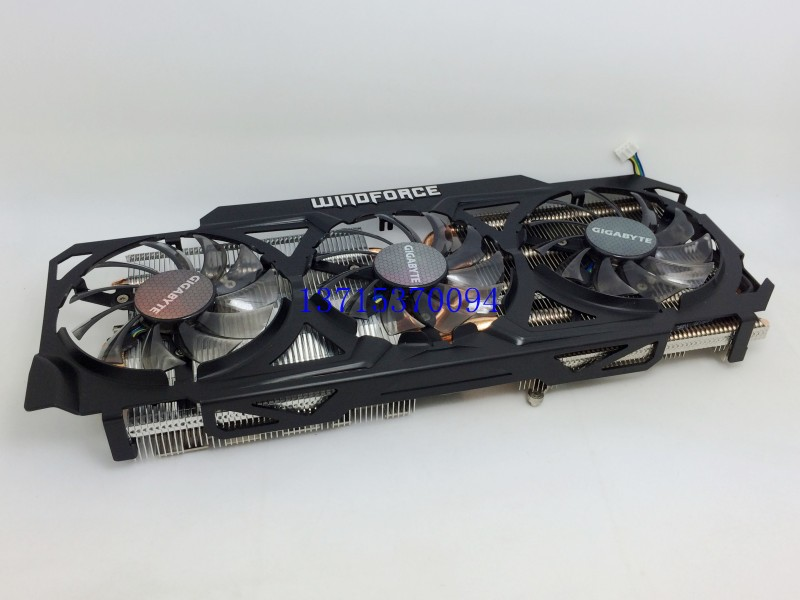 New Original for Gigabyte 3GD GV-N780OC-4GB GTX780 graphics radiator 6 heat pipe radiator cooler cooling fan 4pin mgt8012yr w20 graphics card fan vga cooler for xfx gts250 gs 250x ydf5 gts260 video card cooling