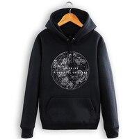 Coldplay Rock Music Band Épais À Capuche Un Ciel Plein de étoiles Sweat Hommes Hiver Polaire Chaud Survêtement Homme Noir Sweat À Capuche S-3XL