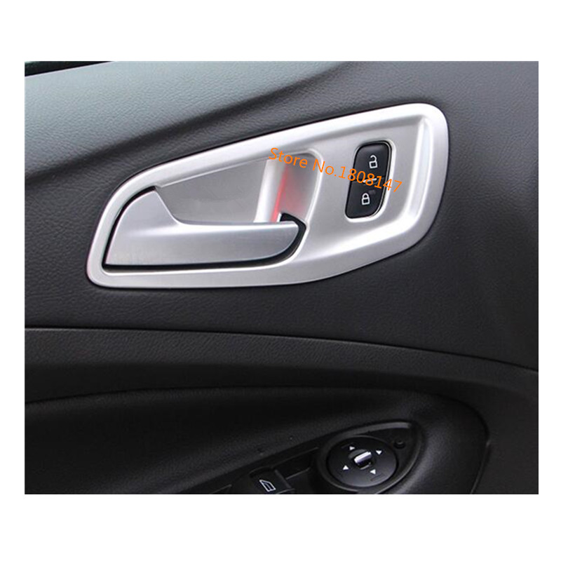 HIGH FLYING Plastic Interior Front Side Door Storage Box Holder Cover Trim 2pcs For Captur 2013-2019 Car Accessory