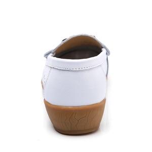 Image 4 - Dobeyping mocassins dété pour femmes, chaussures ajourées en vrai cuir, chaussures plates, mocassins respirants, tailles 35 à 41, collection 2018