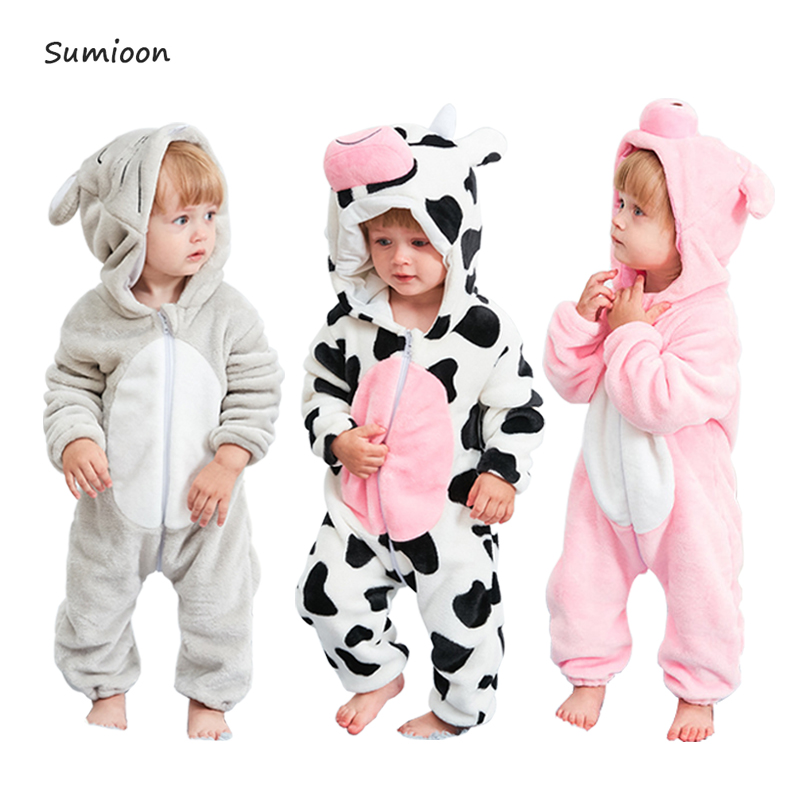 Infant Romper Baby Boys Girls Jumpsuit New Born Bebe Clothing Toddler Pajamas Baby Clothes Panda Stitch Rompers Baby Costumes