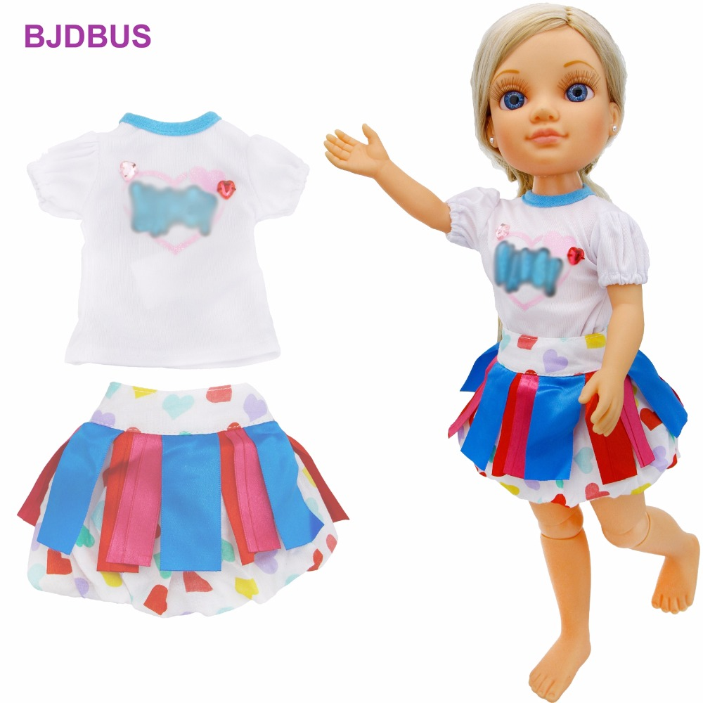 все цены на High Quality Dress Birthday Party Wear Shirt Blouse Colorful Ribbon Skirt Clothes For Nancy Doll Dollhouse Accessories Gift Toys онлайн