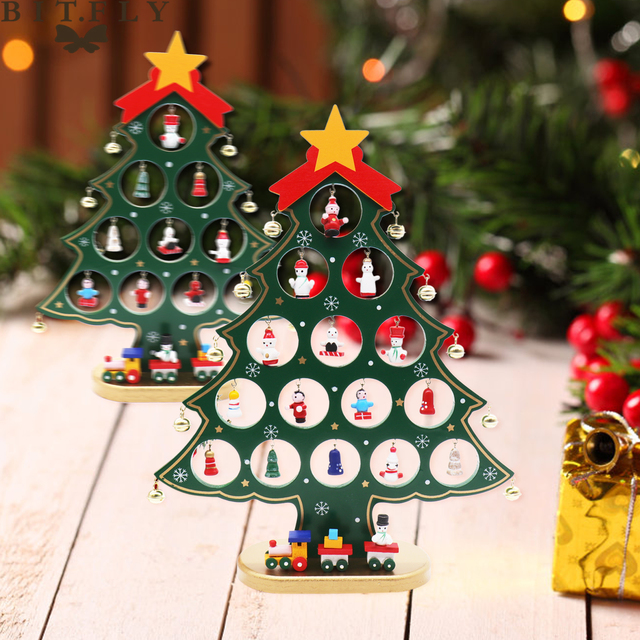 New Christmas tree wooden ornaments Gift DIY Christmas Ornaments ...