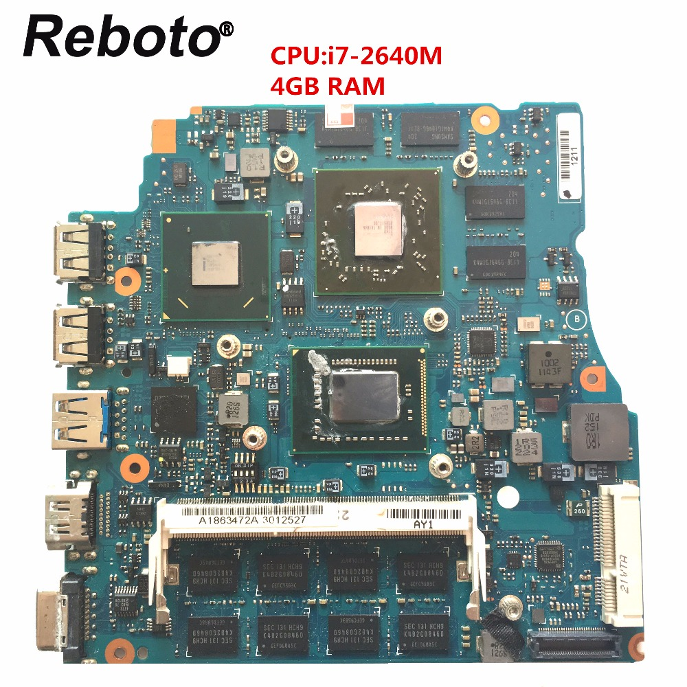 Reboto For SONY VPCSE 15 6 inch Laptop Motherboard HM67 MBX 237 A1863472A With i7 2620M