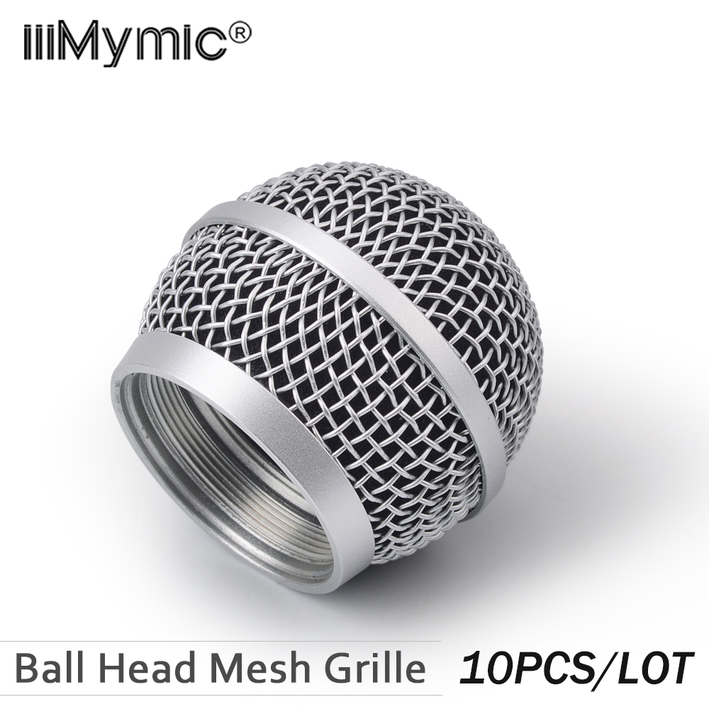 10PCS New Replacement Ball Head Mesh Microphone Grille for Shure PG58 PG 58 Accessories
