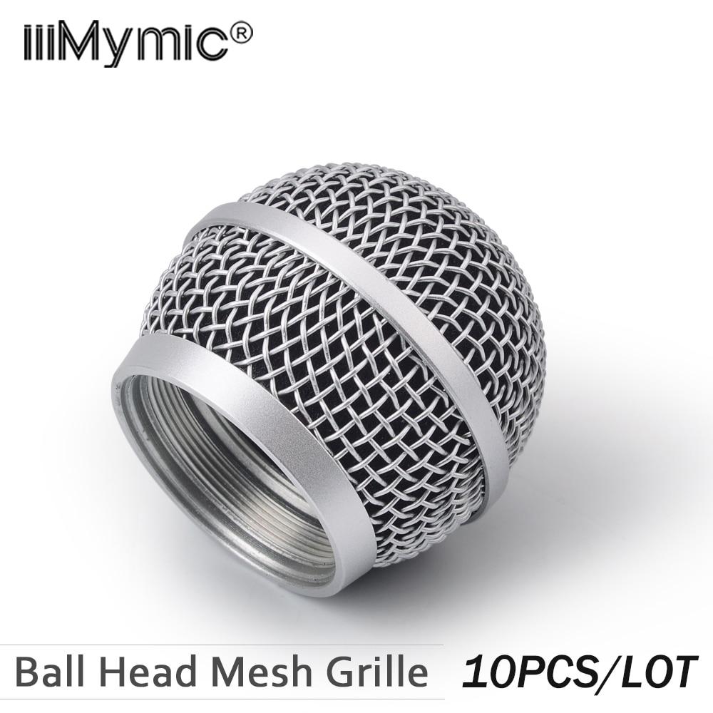 10 sztuk nowy zamiennik głowica kulowa siatki mikrofon dla Shure PG58 PG 58 akcesoria w Mikrofony od Elektronika użytkowa na  Grupa 1