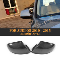Replace carbon fiber side rear view mirror covers back Caps Shell for Audi Q5 SQ5 S line SUV 4 Door 09 17
