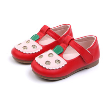 COZULMA Kids Shoes for Girls Mary Jane Shoes Girls Rhinestone Soft Leather Bottom Shoes Baby Girls Non-Slip Shoes 2019 New Flats