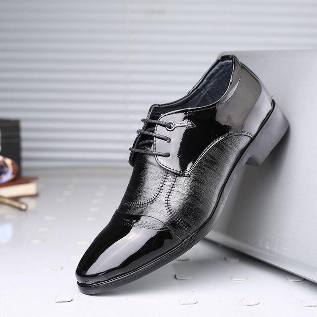 gnome charol en punta zapatos formales hombres de lujo de la boda