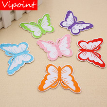 VIPOINT embroidery buttlefly patches animal badges applique for clothing XW-102