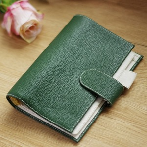 Image 2 - A6 Yiwi 100% Genuine leather Notebook Handmade Gold Spiral Notebook Cowhide Vintage Journal Planner Spiral Diary With Pocket