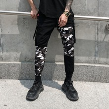 Novel ideas Splice Camo Pants ARMY CAMO HIP HOP JOGGERS Clothing Sweatpants US Size drawstring spliced camo jogger pants
