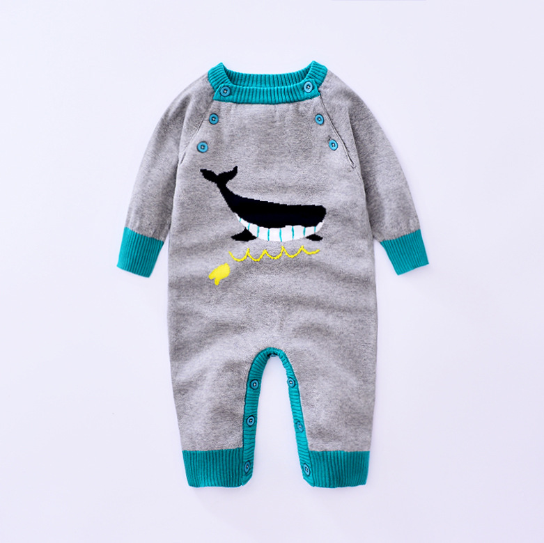 2017 Retail  Fashion Knitting cartoon Baby Romper Clothing Body Suit Newborn Long Sleeve Kids Boys Girls Rompers Baby Clothes cotton baby rompers set newborn clothes baby clothing boys girls cartoon jumpsuits long sleeve overalls coveralls autumn winter