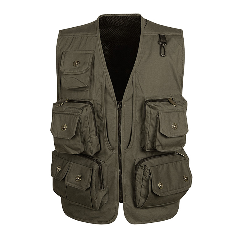 High Quality Multi Pocket Vest For Men Summer Mesh Casual 4 Color Windbreaker Photographer Tool Sleeveless Jacket Male Waistcoat