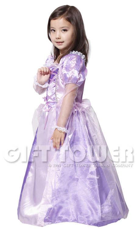M ~ XL Novo Doce Princesa Roxo Cosplay Festa de Halloween para a Menina Rapunzel Cinderela Belle Aurora Costume Do Casamento Vestido Longo vestido