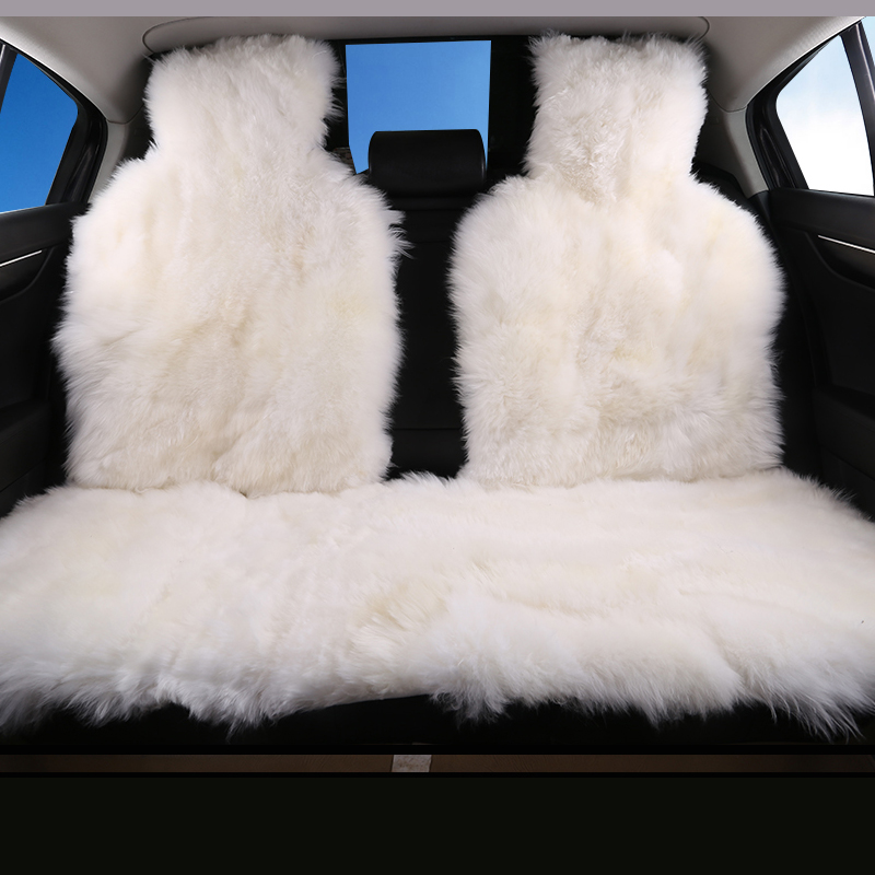 Car interior accessories Car seat covers sheepskin cushion styling fur car seat covers 6 color FOR BACK COVERS 2015 D001 B