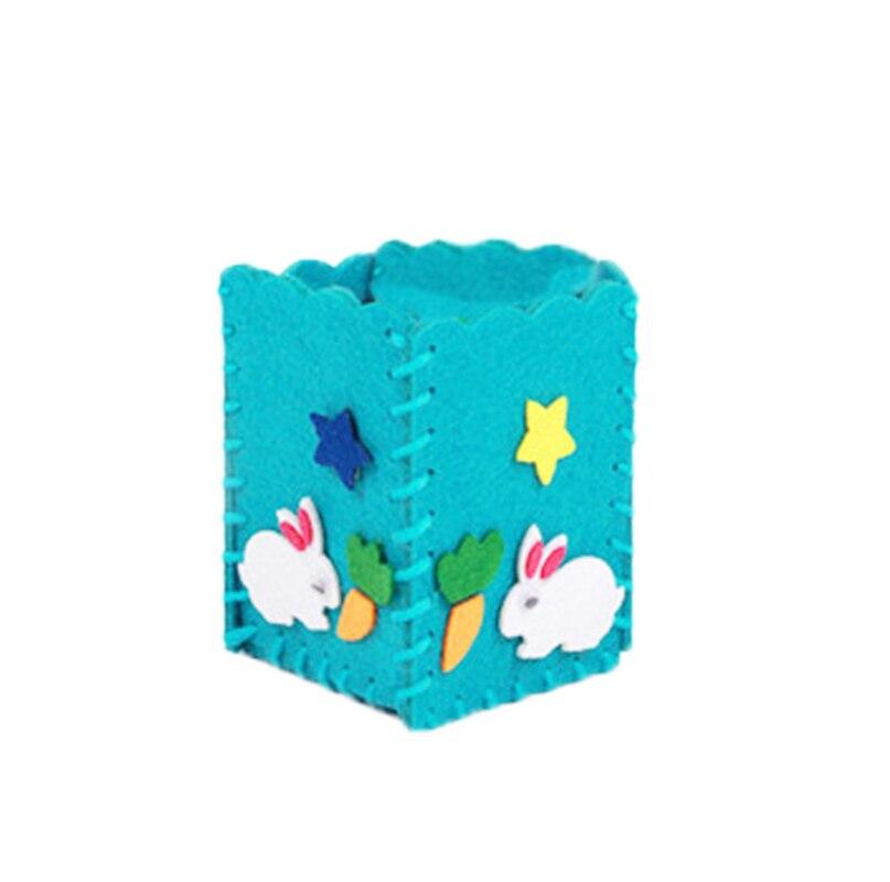 Baby Kids Educational Diy Craft Tangram Block Kit Cute Creative Handmade Pen Container Diy Pencil Holder Kids Craft Toy Kits #5