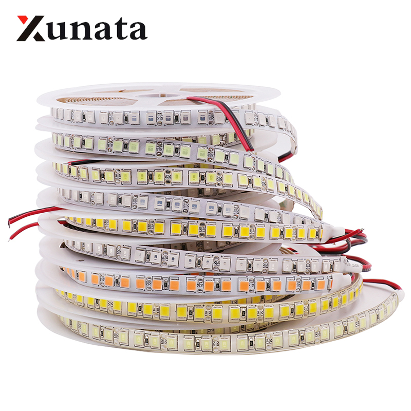 DC12V Super Bright SMD 5054 LED Strip 120leds/m 60leds/m 5050 Warm/White/Ice Blue/Pink/Red/Green Flexible Tape LED Light 5M/Lot