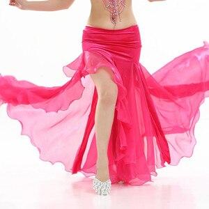 Image 3 - نساء بطن ملابس رقص سيدة رقص تنورة 2 layer شبكة تنورة مثير رقص تنّورة ملفوفة أداء رقص