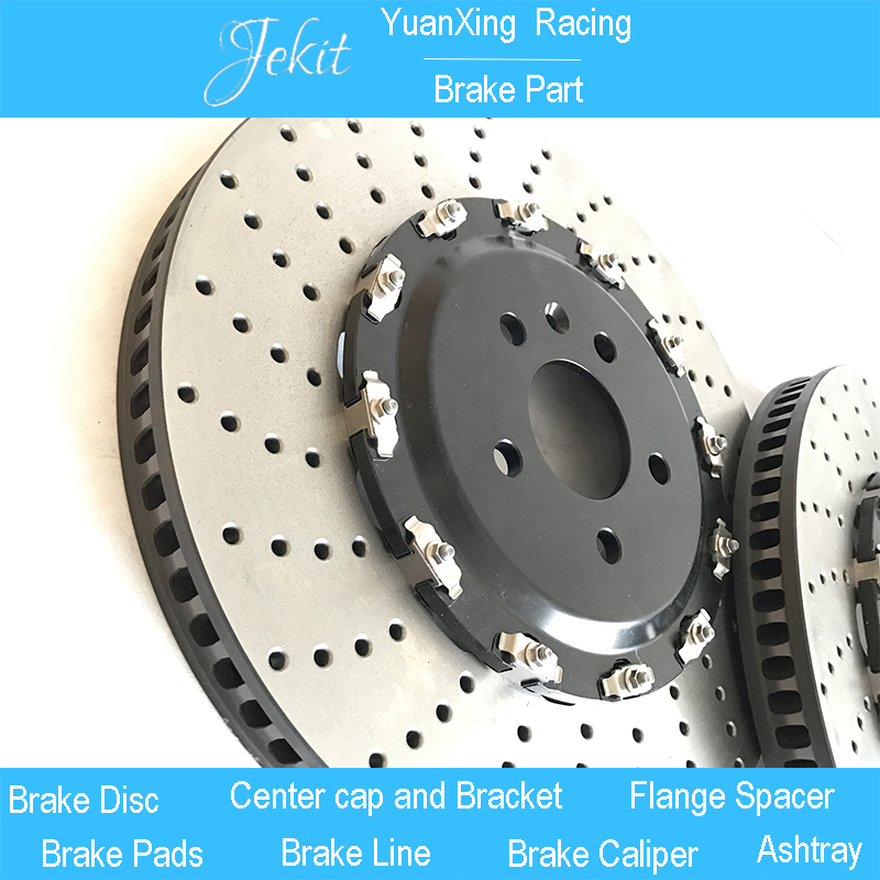 Jekit Big brake disc 390*36mm perforated drilled brake rotors with Floating center bell for BMW 640 wheel rim 22 for Ap8520