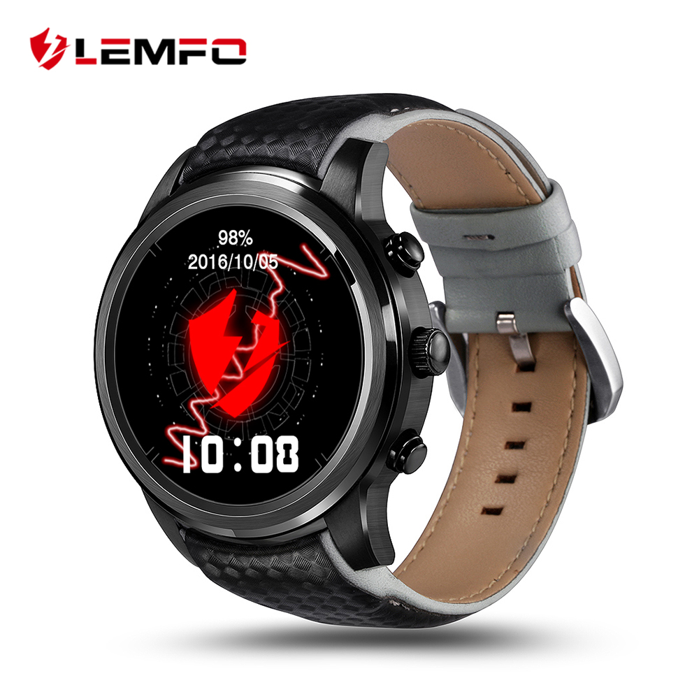 LEMFO LEM5 3G Smart Watch Phone 1.39 inch 400*400 screen Android 5.1 support SIM Card Bluetooth WIFI GPS Heart Rate Smartwatch