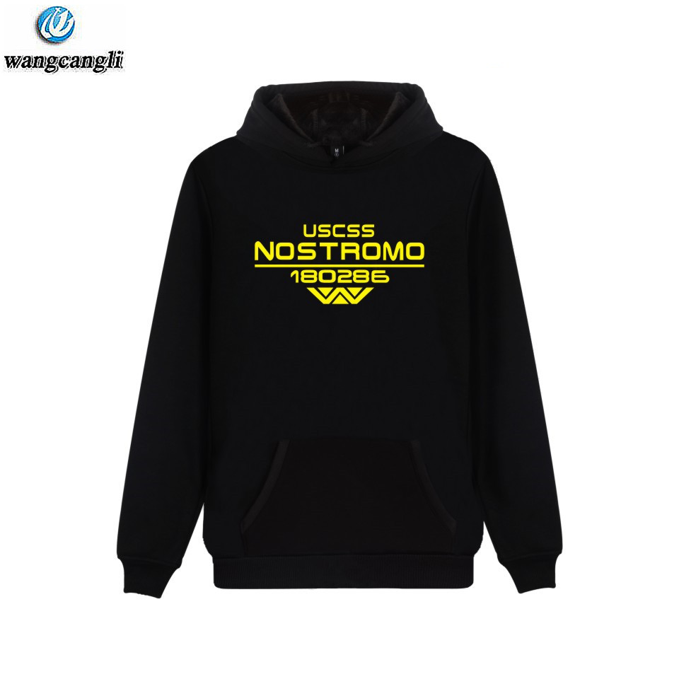 Fashion USCSS Nostromo Hoodies Sweatshirts Men Alien WEYLAND CORP USCSS 180286 Hoodie Sweatshirt Men Casual Pullover Tracksuit