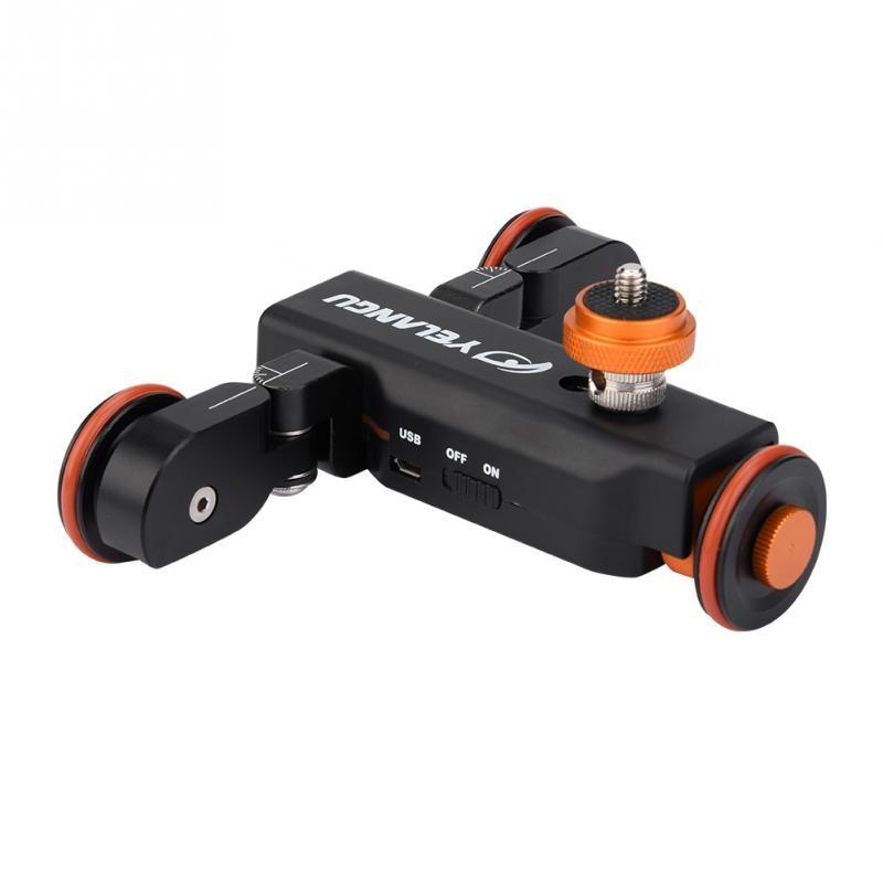 YELANGU L4X Mini Motorized Electric Track Slider Motor Dolly Truck Car for Camera Camcorder DV