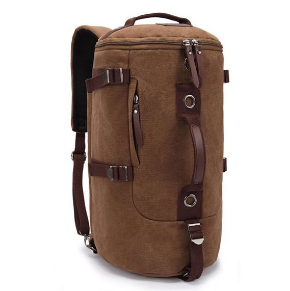 New computer backpack drum bag portable multifunctional canvas man bag travel backpacks male bucket shoulder bag