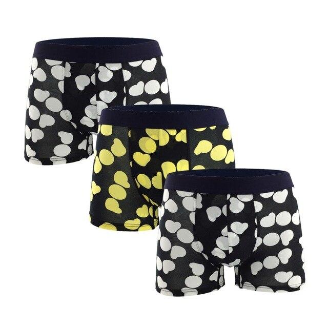 9db8e80040 Exquisite Big Love Heart Pattern Boxer For Men Sexy Breathable marca boxer  homme Cotton Boxershort Underwear