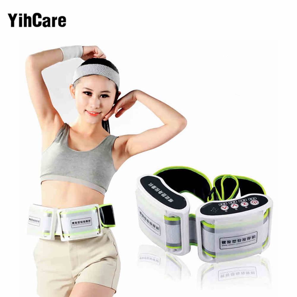 YihCare Weight Loss X5 Times Spiral Rejection of Fat Electric Body Massager Slimming Belt Thin Waist Vibration Massage Machine abdomen reduce weight thin waist belt 4800times min vibration massage rejection fat weight lose shake shake belt slimming belts