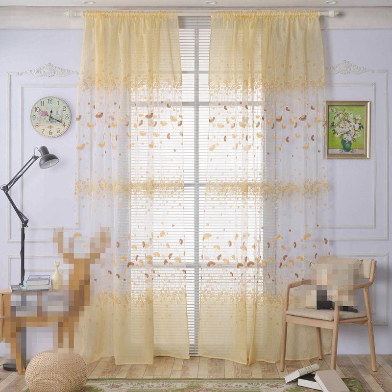 ✓1 unid moda cortina dormitorio persianas francesas semi-apagón ...