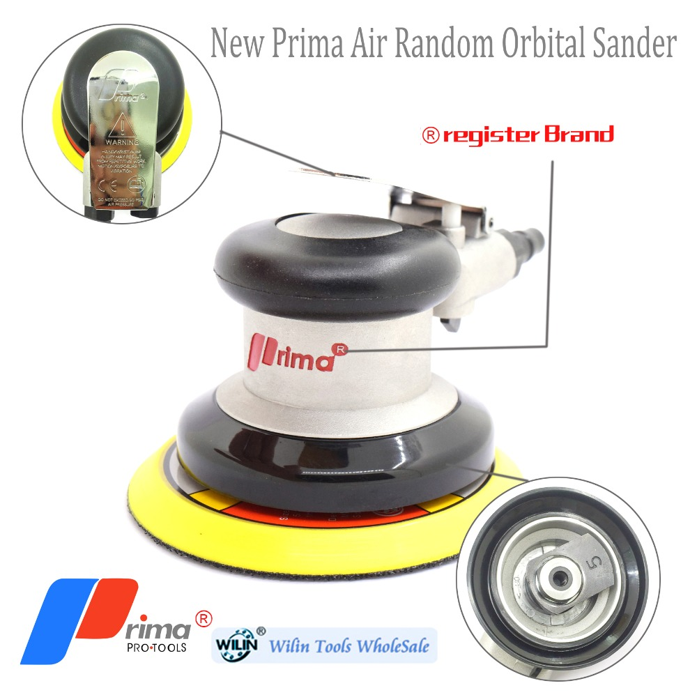 New Pneumatic Sanders TAIWAN PRIMA Air Tools Palm Random Orbital Sander Polisher 5 Inch Circle Round Pad 125mm High Quanlity