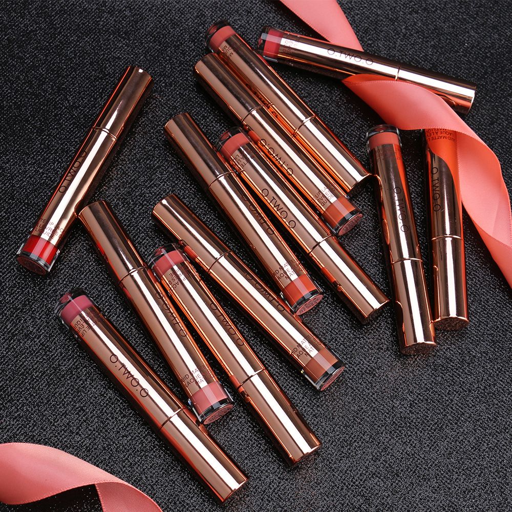 O.TWO.O 12colors Best Sale Hot Cosmetics Makeup Lip Gloss Long Lasting Waterproof Easy to Wear Matte Lipstick 5