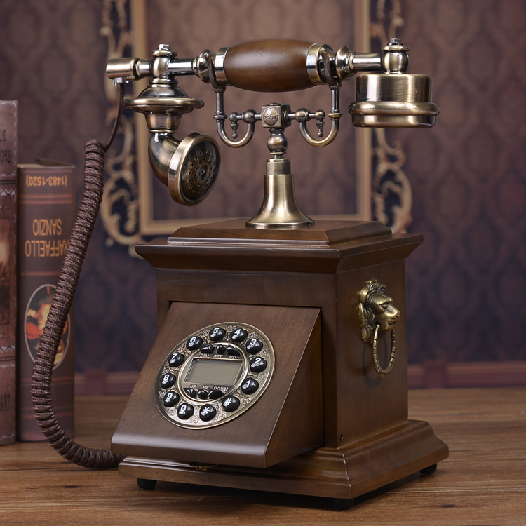 503A75 Solid wood antique telephone fashion phone vintage telephone Redial Hands free backlit Caller ID