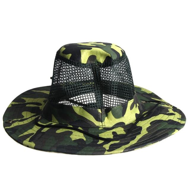 Outdoor Mesh Sunshade Fishing Bucket Hat Cap-in Fishing Caps ... bcd8070868b9